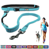 Reflective Padded Anti-shock Outdoor Training Running Dog Leash teal