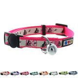 Pink Glow In The Dark Cat Collar with Safety Buckle and Bell