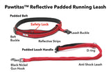 Reflective Padded Anti-shock Outdoor Training Running Dog Leash explanation