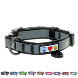 Reflective Padded Dog Collar Classic by Pawtitas black