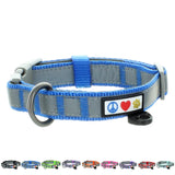 Reflective Padded Dog Collar Classic by Pawtitas blue