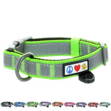 Reflective Padded Dog Collar Classic by Pawtitas green