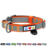Reflective Padded Dog Collar Classic by Pawtitas orange