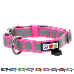 Reflective Padded Dog Collar Classic by Pawtitas pink