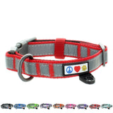 Reflective Padded Dog Collar Classic by Pawtitas red