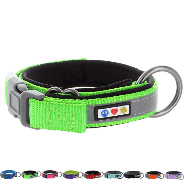 Pawtitas Pet Soft Adjustable Reflective Padded Dog Collar main photo