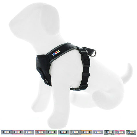 Pet Training Soft Adjustable Reflective Padded Puppy / Dog Harness black