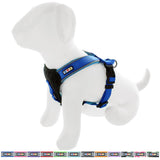 Pet Training Soft Adjustable Reflective Padded Puppy / Dog Harness blue