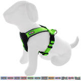 Pet Training Soft Adjustable Reflective Padded Puppy / Dog Harness green