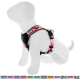 Pet Training Soft Adjustable Reflective Padded Puppy / Dog Harness pink camouflage