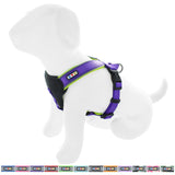 Pet Training Soft Adjustable Reflective Padded Puppy / Dog Harness purple
