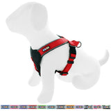 Pet Training Soft Adjustable Reflective Padded Puppy / Dog Harness red