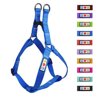 Soft Adjustable Step-In Reflective Puppy / Dog Harness designed by Pawtitas blue
