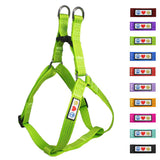 Soft Adjustable Step-In Reflective Puppy / Dog Harness designed by Pawtitas green