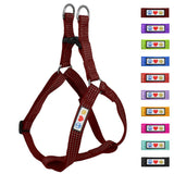 Soft Adjustable Step-In Reflective Puppy / Dog Harness designed by Pawtitas marsala brown