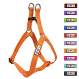 Soft Adjustable Step-In Reflective Puppy / Dog Harness designed by Pawtitas orange