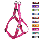 Soft Adjustable Step-In Reflective Puppy / Dog Harness designed by Pawtitas pink