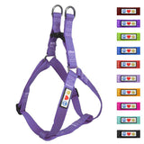 Soft Adjustable Step-In Reflective Puppy / Dog Harness designed by Pawtitas orchid