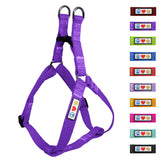 Soft Adjustable Step-In Reflective Puppy / Dog Harness designed by Pawtitas purple