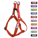 Soft Adjustable Step-In Reflective Puppy / Dog Harness designed by Pawtitas red