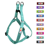Soft Adjustable Step-In Reflective Puppy / Dog Harness designed by Pawtitas teal