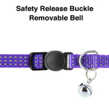 Reflective Cat Collar with Safety Buckle and Bell designed by Pawtitas clip