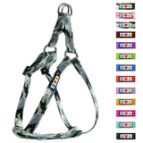 Soft Adjustable Step-In Reflective Puppy / Dog Harness designed by Pawtitas Grey Camouflage