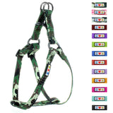 Soft Adjustable Step-In Reflective Puppy / Dog Harness designed by Pawtitas green camouflage