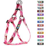 Soft Adjustable Step-In Reflective Puppy / Dog Harness designed by Pawtitas pink camouflage