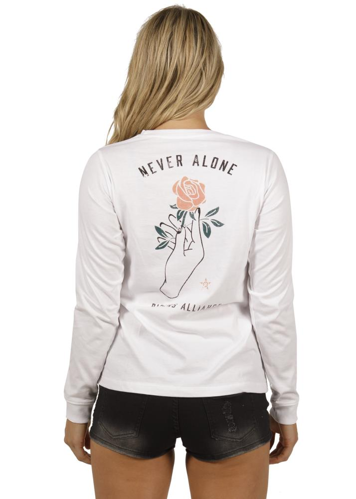 Never Alone LS Ladies Tee