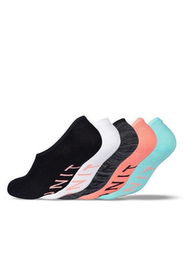 Ladies Bamboo No Show Socks - 5 Pack
