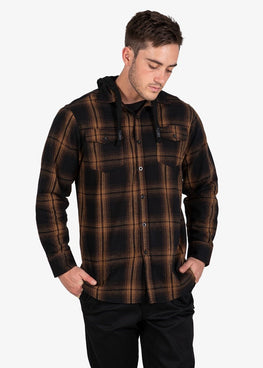 Chester Hooded  Flannel Shirt