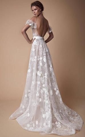 8f6661cd8b31d White v neck lace off shoulder long prom dress, white evening dress,PD