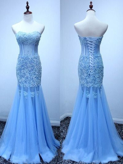 mermaid Prom Dresses,lace up back prom dress,long prom Dress,elegant prom dress,charming evening dress 2017,BD2808 - dream dress