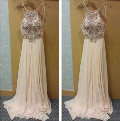 blush pink Prom Dresses,charming Prom Dress,long Prom dress,chiffon prom Dress,evening Dress,BD601 - dream dress