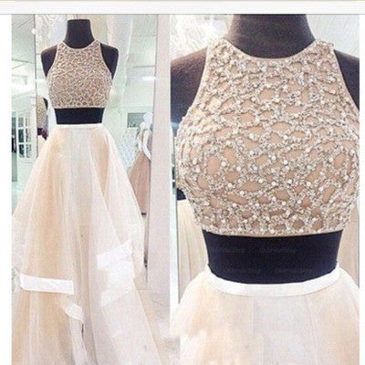 Two pieces Prom Dresses,Long Prom Dress,Long Prom Dress,A line Prom Dress,dresses for prom,BD081 - dream dress