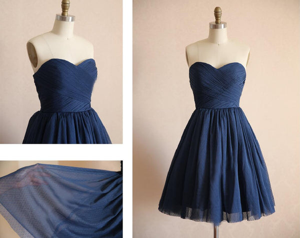 short bridesmaid dress,navy bridesmaid dress,simple bridesmaid dress,cheap bridesmaid dress,BD446 - dream dress