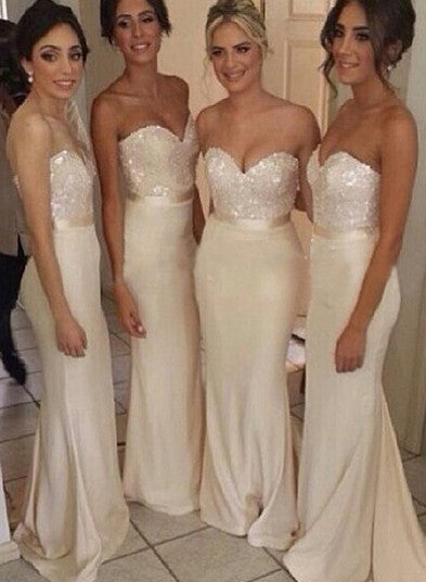 white prom dress, long prom dress, mermaid prom dress, sexy prom dress, 2015 prom dress,bridesmaid dress,BD011 - dream dress