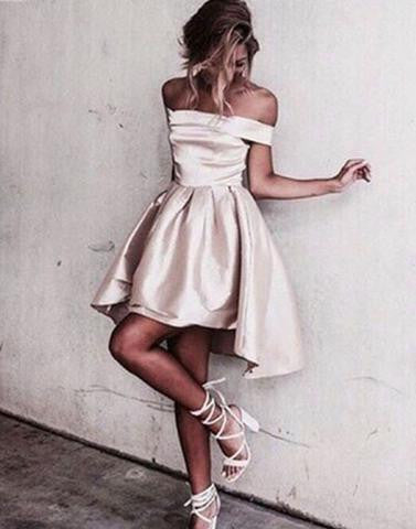 off shoulder short homecoming dress,cheap prom dresses,BD17296