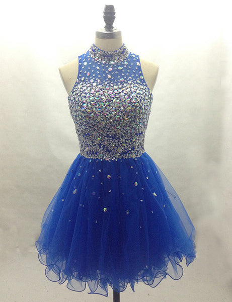 Royal blue Homecoming dress,short prom Dress,charming Prom Dresses,Party dress for girls,BD360 - dream dress