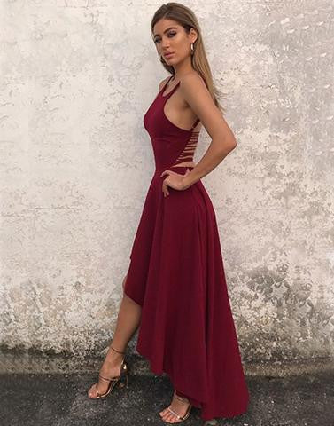 Stylish A line chiffon high low prom dress, evening dress,BD1705 - dream dress