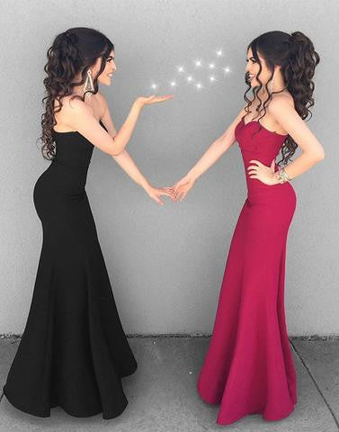 Stylish mermaid sweetheart neck long prom dress, simple evening dresses,BD1701 - dream dress