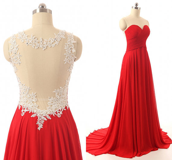 Red bridesmaid dress,Long bridesmaid dress,Backless bridesmaid dress,cheap prom dress,BD415 - dream dress