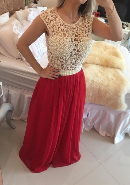 beaded long 2017 o neck evening dress,BD2887 - dream dress