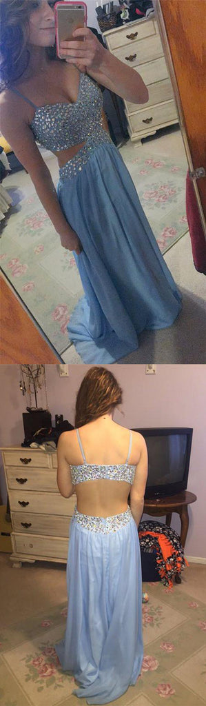 blue Prom Dresses,long prom dress,open back prom Dress,charming prom dress,sexy prom dress,BD2975