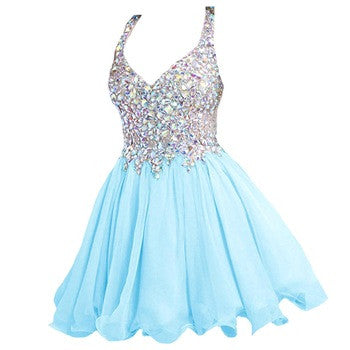 Blue Homecoming dress,short prom Dress,charming Prom Dresses,Party dress for girls,BD361 - dream dress