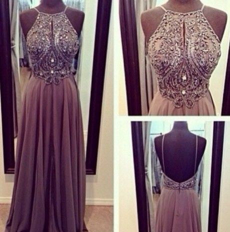 brown Prom Dresses,charming prom dress,long prom Dress,backless prom dress,BD0393 - dream dress