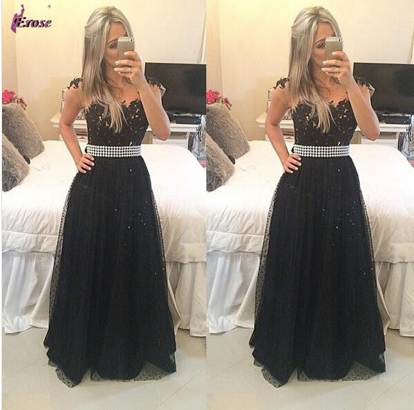 Black Prom Dresses,Charming Prom Dress,Long Prom dress,party prom Dress,2017 prom Dress,BD416 - dream dress