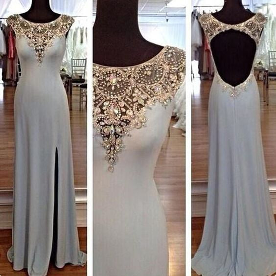 long Evening Dress,blue Prom Dress,backless prom dress,Charming prom dress,evening dress,BD804 - dream dress