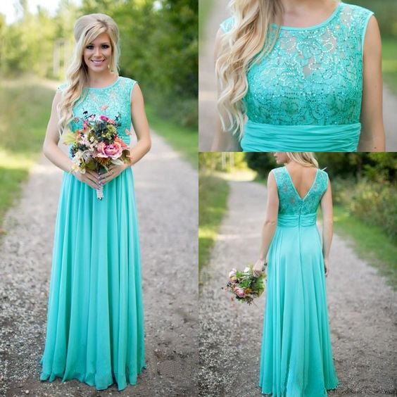 blue bridesmaid dress,long bridesmaid dress,modest bridesmaid dress,cheap bridesmaid dress,BD2013 - dream dress